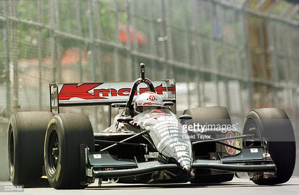 Five time winner on the streets of Toronto Michael Andretti in the Newman Haas Lola Ford T96/00 during practice for the Molson Indy round eleven of...