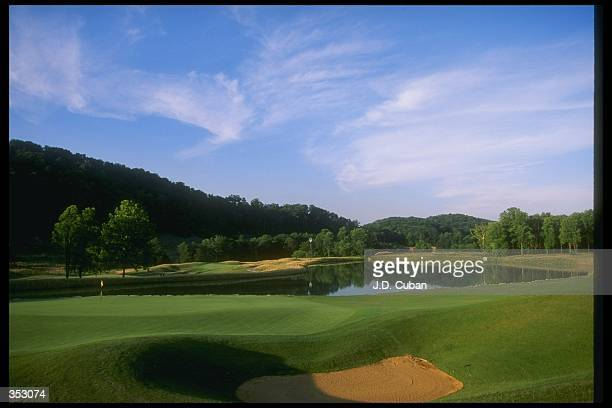 General view of the fifteenth hole at the John Dye Golf Club in Bridgeport West Virginia Mandatory Credit J D Cuban /Allsport