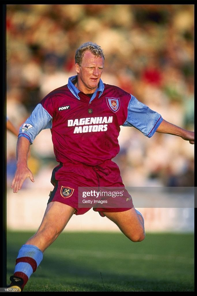 Ian Dowie of West Ham in action during a pre-season friendly against Yeovil at Yeovil. Mandatory Credit: Allsport UK