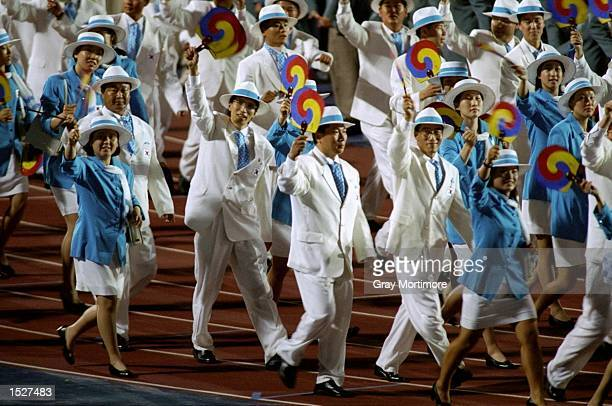 The team from Japan enter the Olympic Stadium during the Opening Ceremony of the 1996 Olympic Games in Atlanta, Georgia. \ Mandatory Credit: Gray...