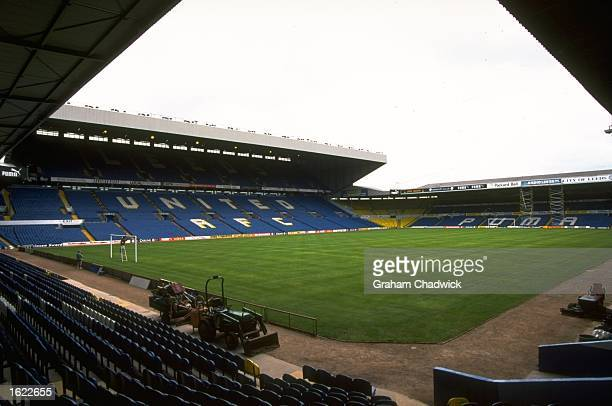 A general view of Elland Road home to Leeds United Football Club in Leeds England Mandatory Credit Graham Chadwick /Allsport