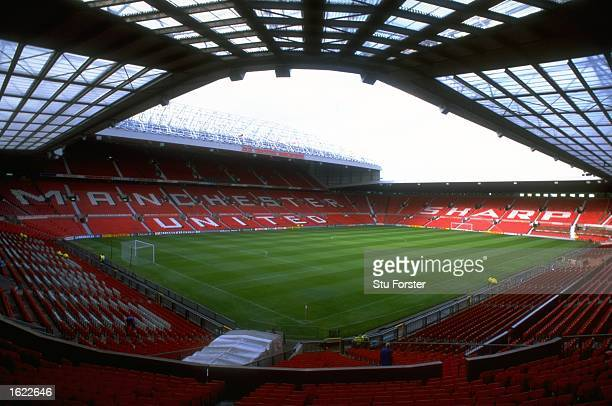 A general view of Old Trafford home to Manchester United in Manchester England Mandatory Credit Stu Forster /Allsport