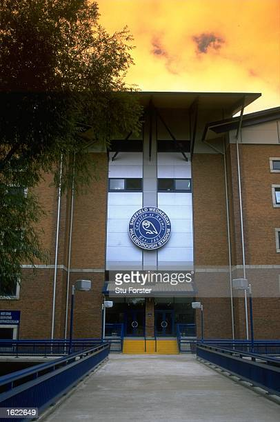 General view of the main entrance to Hillsborough, home to Sheffield Wednesday Football Club in Sheffield, England. \ Mandatory Credit: Stu Forster...