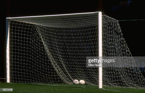 General view of a goal at Meadow Lane home of Notts County FC taken before their preseason friendly against Bolton Wanderers Mandatory Credit Mike...