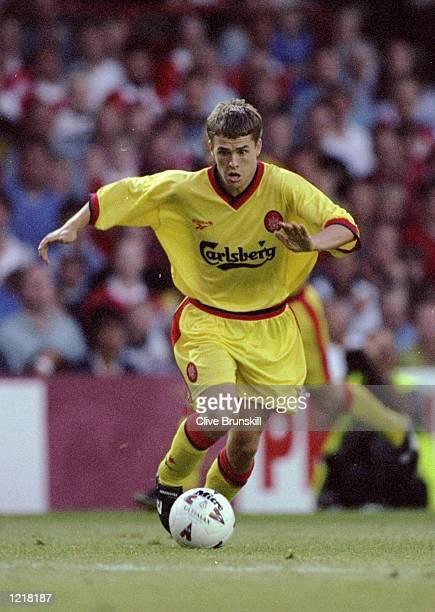 Michael Owen of Liverpool in action during the Pre-season Friendly match against Bristol City played in Bristol, England. \ Mandatory Credit: Clive...