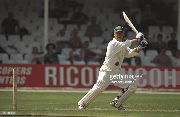 Paul Johnson of Nottinghamshire plays a shot during the Nat West Trophy Quarter Final against Essex at the County Ground in Chelmsford Essex England...