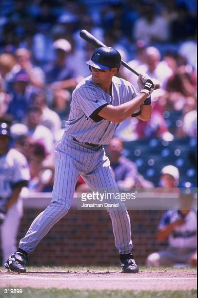 Andy Fox of the Arizona Diamondbacks in action during a game against the Chicago Cubs at Wrigley Field in Chicago Illinois The Cubs defeated the...
