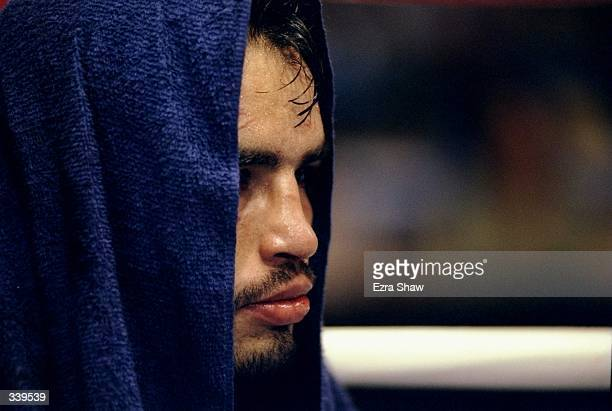 Armando Bosques looks on during his bout against Ricardo Rivera at the Forum in Inglewood California Mandatory Credit Ezra O Shaw /Allsport