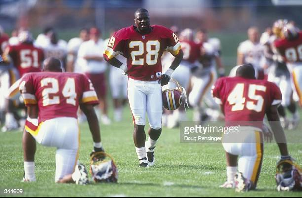 Cornerback Darrell Green of the Washington Redskins in action during the Redskins training camp at Frostburg State University in Frostburg, Maryland....