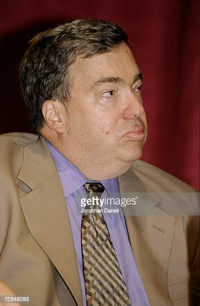 General Manager Jerry Krause at the Chicago Bulls Press Conference at the United Center in ChicagoIllinois FOR EDITORIAL USE ONLYMandatory Credit...