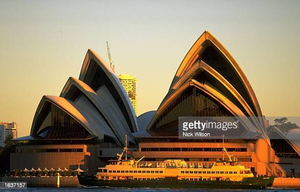General view of Sydney Opera House as the city prepares to host the 2000 Olympic Games in Australia Mandatory Credit Nick Wilson /Allsport
