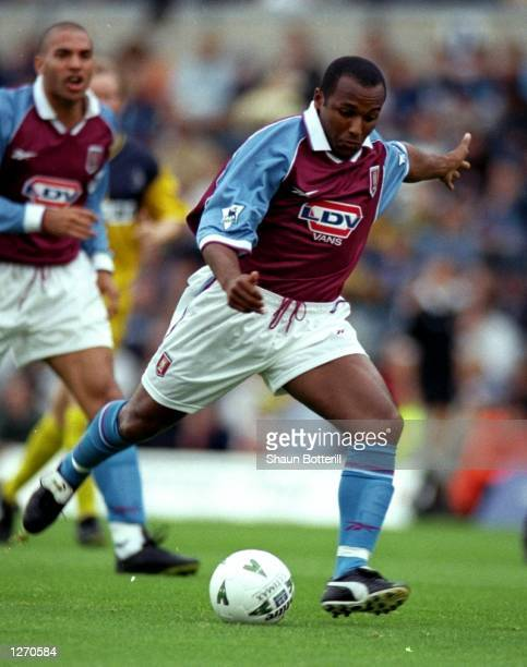 Julian Joachim of Aston Villa in action during the preseason friendly against Wycombe Wanderers at Adams Park in Wycombe England Villa won 30...