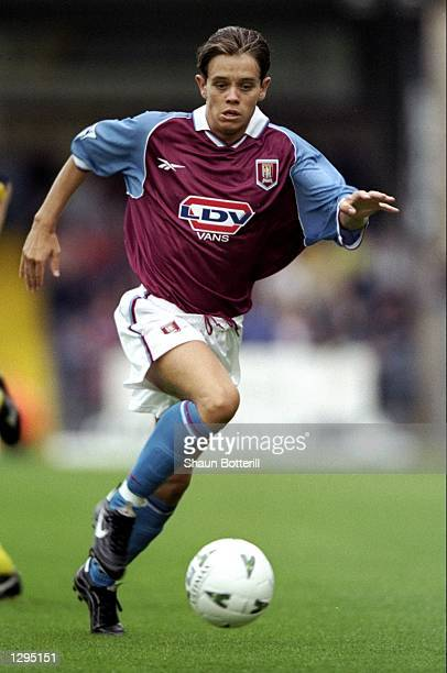 Lee Hendrie of Aston Villa in action during the PreSeason Friendly between Wycombe Wanderers v Aston Villa plated at Adams Park Wycombe England Aston...