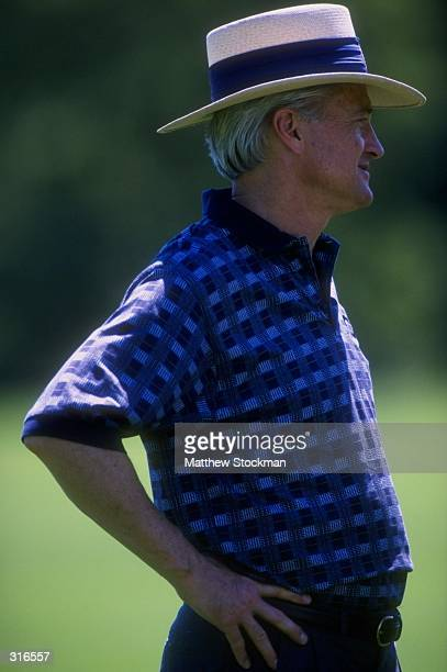 Michael B McCaskey of the Chicago Bears looks on during the Chicago Bears Training Camp in Lake Forest Illinois Mandatory Credit Matthew Stockman...
