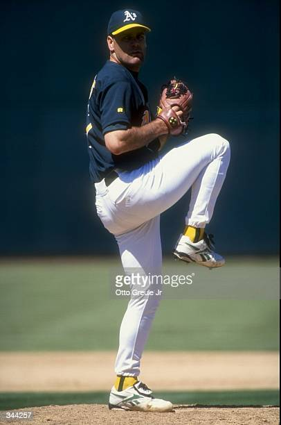 Pitcher Kenny Rogers of the Oakland Athletics in action during a game against the Minnesota Twins at the Oakland Coliseum in Oakland California The...