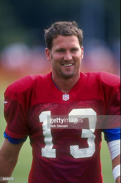 Quarterback Danny Kanell of the New York Giants looks on during the Giants training camp at SUNY in Albany New York Mandatory Credit Rick Stewart...