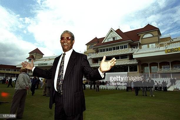 Sir Garfield Sobers opens the new Radcliffe Road Stand before the Fourth Test match between England and South Africa at Trent Bridge in Nottingham,...