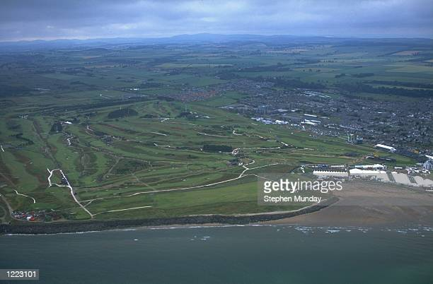 General view of the Carnoustie GC host to the 1999 British Open in Carnoustie, Scotland. \ Mandatory Credit: Stephen Munday /Allsport