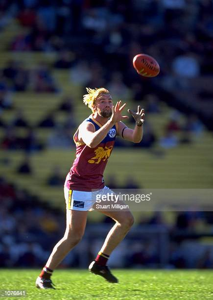 Adam Hueskes of Brisbane in action during the AFL Round 16 match against St Kilda played at Waverley Park in Melbourne Australia Mandatory Credit...