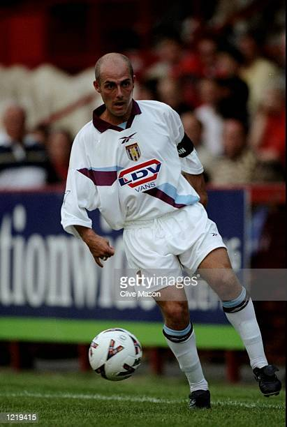 Alan Wright of Aston Villa in action during the preseason friendly against Stevenage Borough played in Stevenage England The match finished in a 30...