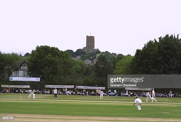 General view of Guildford cricket ground during the PPP Healthcare County Championships match between Hampshire and Surrey played in Guildford...