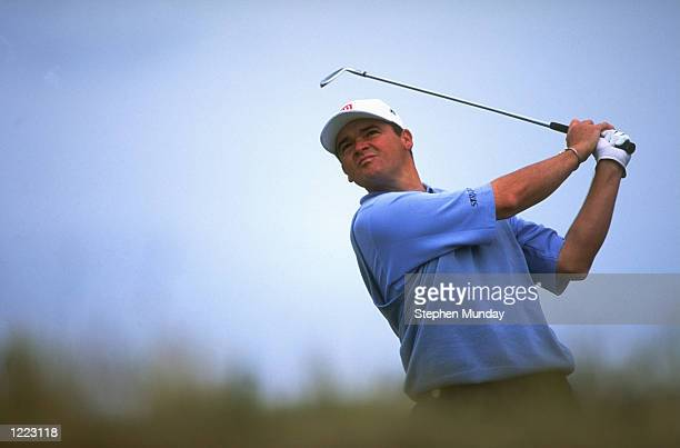 Paul Lawrie of Scotland in action during the British Open played at the Carnoustie GC in Carnoustie, Scotland. \ Mandatory Credit: Stephen Munday...