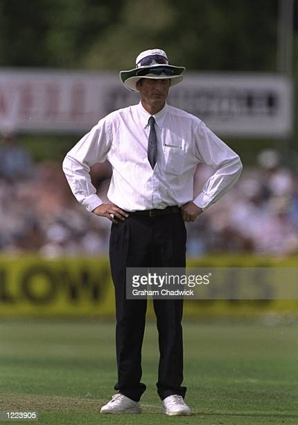 Umpire Neil Mallander in action during the NatWest Trophy match between Hampshire and Lancashire played in Southampton England Mandatory Credit...