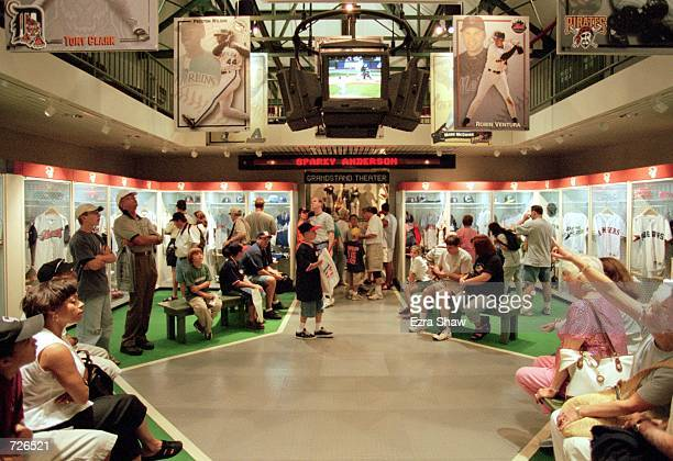 A general view of a mock locker room at the Baseball Hall of Fame in Cooperstown New YorkMandatory Credit Ezra O Shaw /Allsport