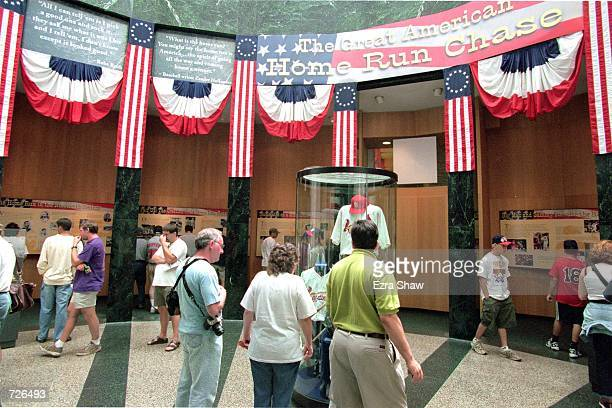 A general view of the interior of the Baseball Hall of Fame in Cooperstown New YorkMandatory Credit Ezra O Shaw /Allsport