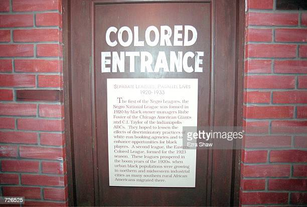 A general view of the Negro League Entrance Exhibit at the Baseball Hall of Fame in Cooperstown New YorkMandatory Credit Ezra O Shaw /Allsport