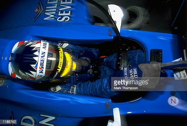 Alexander Wurz of Austria and Benetton Playlife prepares for the Austrian Formula One Grand Prix at the A1 Ring Spielberg Austria Mandatory Credit...