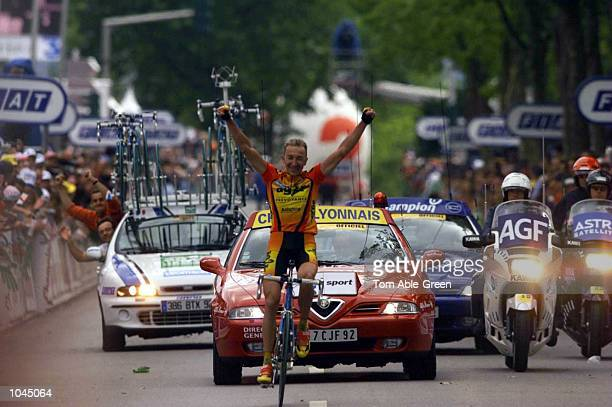 Christophe Agnolutto of Italy and the AG2R Prevoyance team wins Stage 7 between Tours Limoges during the Tour De France France Mandatory Credit Tom...