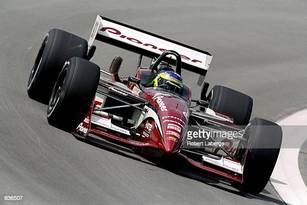 Cristiano da Matta of Brazil who drives the Toyota Reynard 2KI for PPI Motorsports speeds around the track during the Target Grand Prix of Chicago...