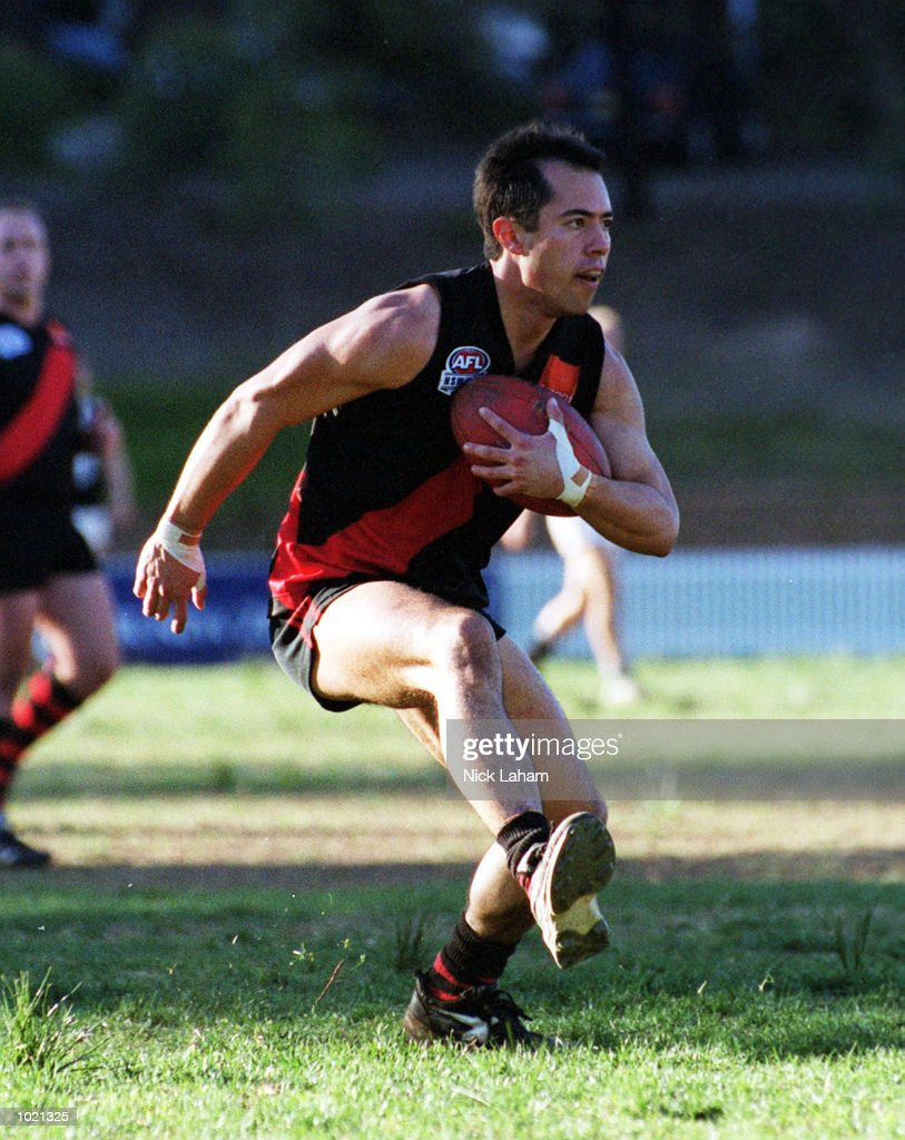 Damien Hall #10 for North Shore in action during the Sydney AFL match between North Shore Bombers v Western Suburbs Magpies at Gore Hill Oval, Sydney, Australia. North Shore defeated Western Suburbs 19.11.125 to 6.5.41. Mandatory Credit: Nick Laham/ALLSPORT