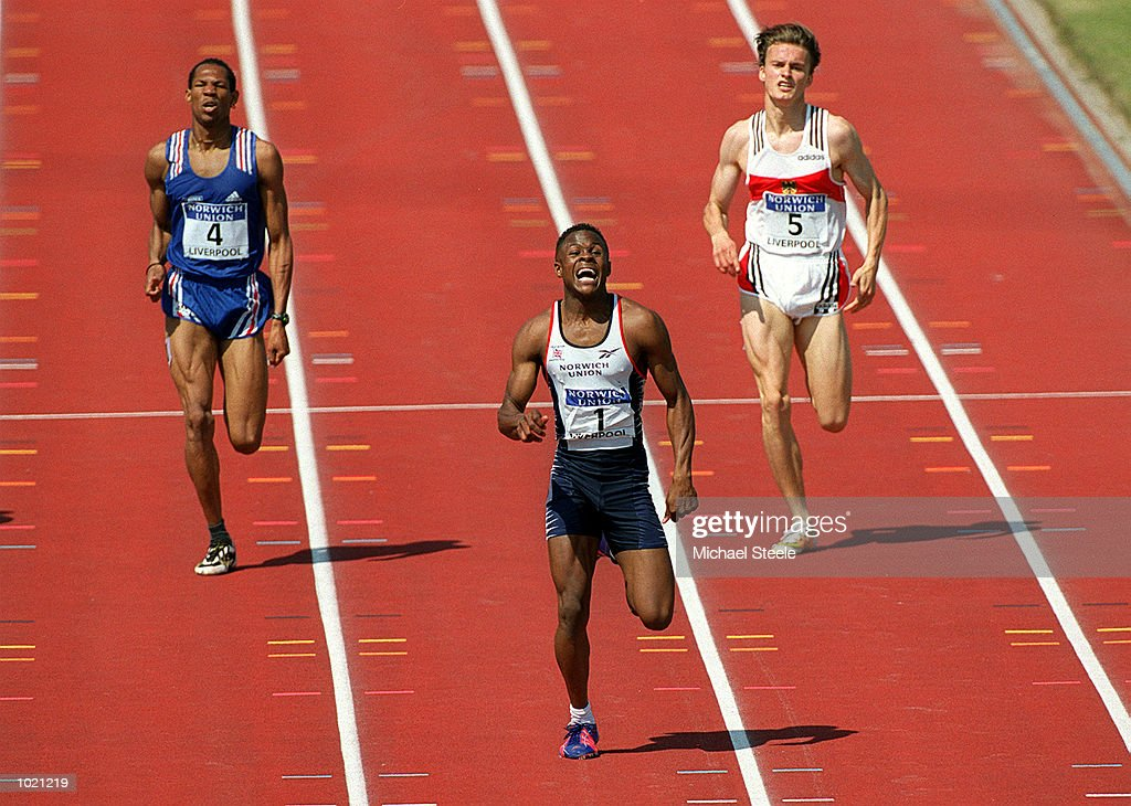 Daniel Caines of Great Britain in action during the Men's 400 metres final of the Norwich Union International Athletics Under 23 Meeting at Wavertree Athletics Centre, Liverpool. Mandatory Credit: Michael Steele/ALLSPORT