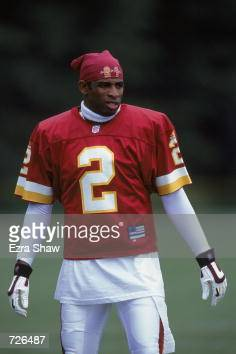 official photos ae355 670ca Deion Sanders of the Washington Redskins is looking on ...