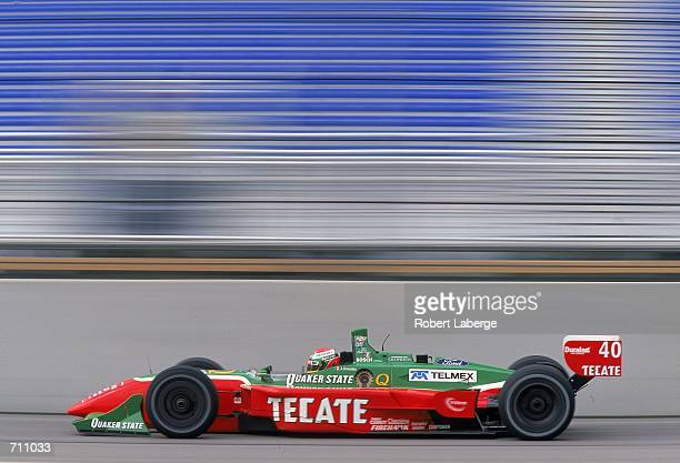 Driver Adrian Fernandez of Mexico who drives the Ford Reynard 2KI for Patrick Racing is driving during the Target Grand Prix of Chicago Presented by...