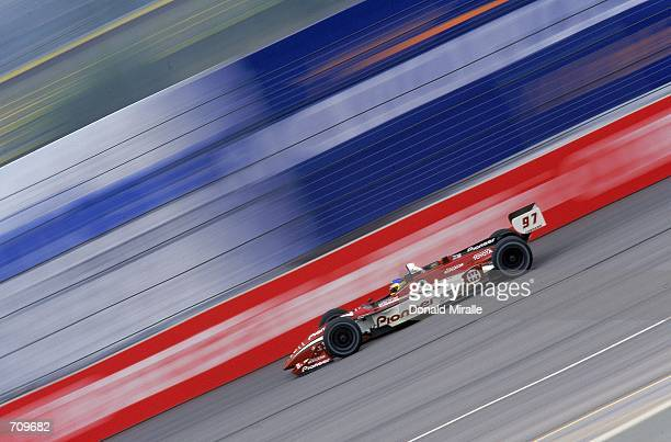 Driver Cristiano de Matta of Brazil who drives the Toyota Reynard 2KI for PPI Motorsports is on his way to winning the Target Grand Prix of Chicago...