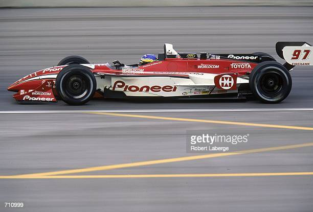 Driver Cristiano de Matta of Brazil who drives the Toyota Reynard 2KI for PPI Motorsports speeds down the track during the Target Grand Prix of...
