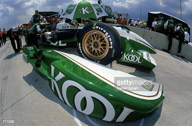 Driver Dario Franchitti of Scotland who drives the Honda Reynard 2KI for Team KOOL Green is waiting in pit lane during the Target Grand Prix of...