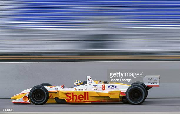 Driver Kenny Brack of Sweden who drives the Ford Reynard 2KI for Team Rahal is racing during the Target Grand Prix part of the 2000 CART FedEx...