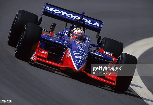 Driver Mark Blundell of Great Britain who drives the Mercedes Reynard 2KI for PacWest Racing is racing during the Target Grand Prix part of the 2000...