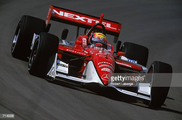 Driver Mauricio Gugelmin of Brazil who drives the Mercedes Reynard 2KI for PacWest Racing is racing during the Target Grand Prix part of the 2000...