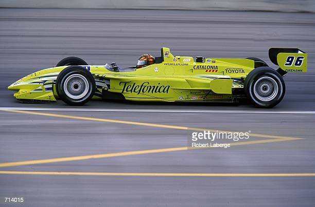Driver Oriol Servia of Spain who drives the Toyota Reynard 2KI for PPI Motorsports is racing during the Target Grand Prix part of the 2000 CART FedEx...