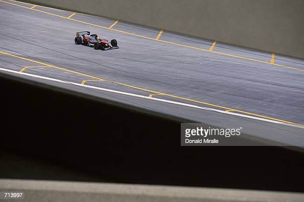 Driver Roberto Moreno of Brazil who drives the Ford Reynard 2KI for Patrick Racing races during the Target Grand Prix part of the 2000 CART FedEx...