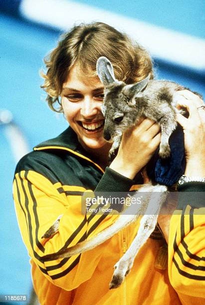 File Pic of Lisa Forrest of Australia holding a joey during the 1982 Commonwealth Games Brisbane Australia Mandatory Credit Tony Feder/ALLSPORT