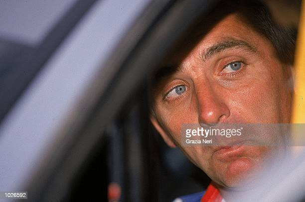 Francois Delecour of France in his Peugeot 206 during round eight of the FIA World Rally Championship in Auckland New Zealand Picture by Germano...