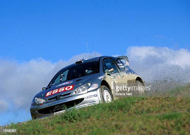 Francois Delecour with the Hyundai Accent during the World Rally Championships at the New Zealand Rally Mandatory Credit Grazia Neri/ALLSPORT