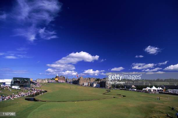 General view of the 1st hole during the British Open on the Old Course at St Andrews in Fife Scotland Mandatory Credit Paul Severn /Allsport