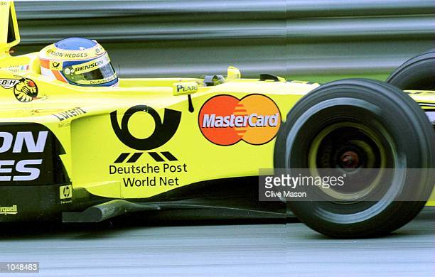 Jarno Trulli of Jordan and Italy in the Jordan EJ10 Mugen Honda during Qualifying for the Formula One Austrian Grand Prix at the A1 ring in Spielberg...